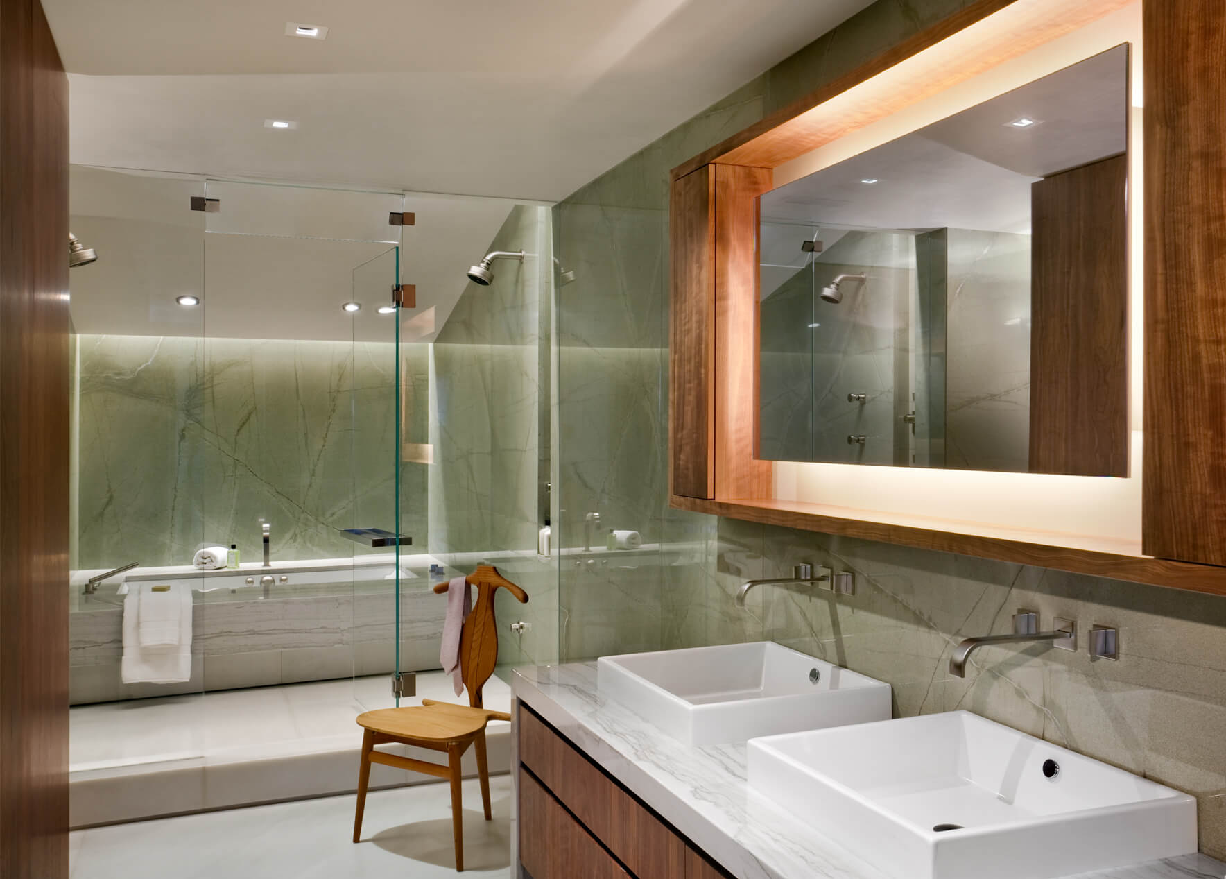 West village townhouse dhd architecture interior design for Townhouse bathroom designs