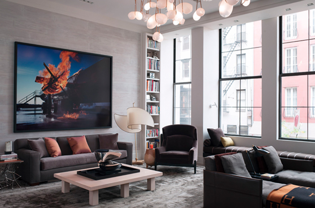 Bond Street Loft Living Room